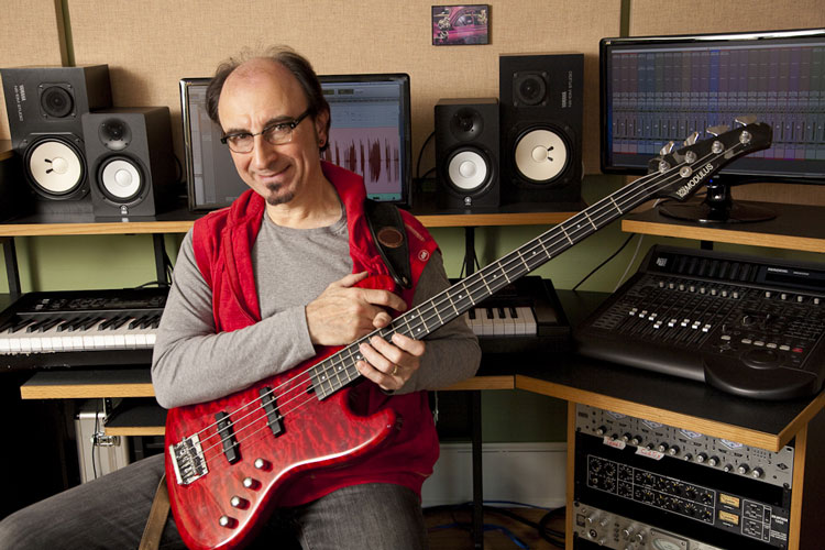 Paul Guzzone in his Recording Studio