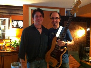 Doug, me and my borrowed 1959 Fender P-Bass