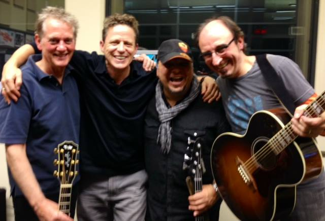L to R: Michael Bacon, Brian Muni, Micheal Castaldo and Me at Live Song Radio